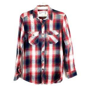 ROEBUCK & CO | Plaid Flannel Boyfriend Shirt